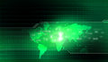 Digital Globe. Binary world Royalty Free Stock Photo