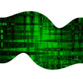 Digital, green abstract background, beautiful banner wallpaper design illustration Royalty Free Stock Photo