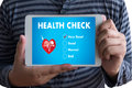Digital Health Check Healthcare Concept doctor working with comp