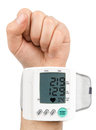 Digital hypertension blood pressure monitor high quality studio photo shoot Stock Photography