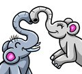 Elephants In Love Royalty Free Stock Photo