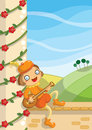 Digital illustration minstrel voice over popular fairytales Royalty Free Stock Photo