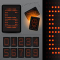 Digital LED Scoreboard Numbers Stock Photography
