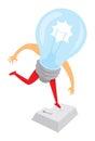 Digital light bulb idea jumping on enter or return key
