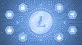 Digital Litecoin Royalty Free Stock Photo
