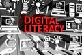 DIGITAL LITERACY concept blurred background Royalty Free Stock Photo