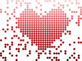 Digital Love Valentine's day heart Royalty Free Stock Image