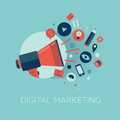 Digital Marketing Concept Illu...