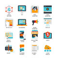 Digital Marketing Flat Icons Set