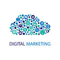 Digital marketing flat illustration