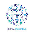 Digital marketing illustration. Flat design