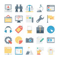 Digital Marketing Vector Icons 6 Royalty Free Stock Photo