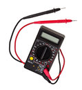 Digital multimeter, isolated Royalty Free Stock Images