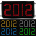 Digital New Year 2012 Royalty Free Stock Image