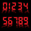 Digital numbers clock red Royalty Free Stock Photos