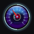 Digital odometer and analog speedometer with arrow