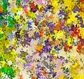 Digital Painting Abstract Multi-Color Chaotic Spatter Brush Paint in Colorful Vibrant Pastel Colors Royalty Free Stock Photo