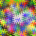 Digital Painting Beautiful Abstract Colorful Chaotic Rectangular Jigsaw Puzzles Pattern Background