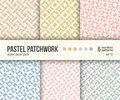 Digital paper pack, 6 abstract patterns, pastel pink crystal textures Royalty Free Stock Photo