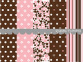 Digital pink patterns scrapbook set textures Royalty Free Stock Images