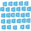 Digital pixel-like alphabet Royalty Free Stock Photo