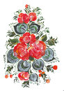 Digital print and clip art bouquet of flowers in russian style volkhovskaya this exclusive image hand painted the folk this is my Stock Photos