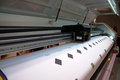 Digital printing - wide format printer Royalty Free Stock Photo