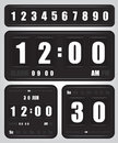 Digital retro clock and calendar illustration Royalty Free Stock Photography