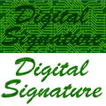 Digital signature Royalty Free Stock Image