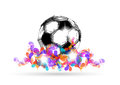 Digital soccer design coloe Stock Photo