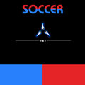 Digital soccer design paper art Royalty Free Stock Image