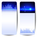 Digital sound wave banner abstract Stock Photography