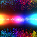 Digital sound wave colorful abstract background vector Royalty Free Stock Photo