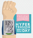 Digital Sphygmomanometer in a Forearm Royalty Free Stock Photo