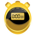 Digital stopwatch modern oval style Stock Photography
