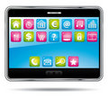 Digital tablet with applications. Stock Photography