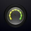 Digital tachometer with neon light vector illustration Royalty Free Stock Photo