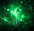 Digital Techno Explosion Royalty Free Stock Photo