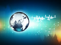 Digital technology background globe on Royalty Free Stock Images