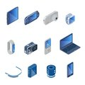 Digital Technology Gadgets Set Royalty Free Stock Photo