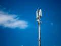 A digital telephone antenna Royalty Free Stock Photo