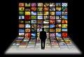 Digital television Royalty Free Stock Photo