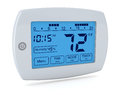 Digital thermostat closeup of a programmable d render Royalty Free Stock Photo