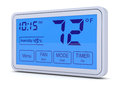 Digital thermostat closeup of a programmable d render Royalty Free Stock Photos