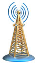 Digital transmitter sends signals from high tower powerful for tv mobile and multimedia broadcast information Stock Photography