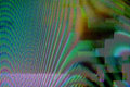 Digital tv broadcast glitch television screen as technology background Royalty Free Stock Photo