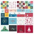 Digital vector christmas and new year holidays
