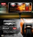 Digital vector, lightbox advertising with perfume