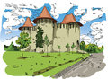 Digital vector painted Soroca Castle