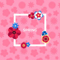Digital vector pink flowers set Royalty Free Stock Photo
